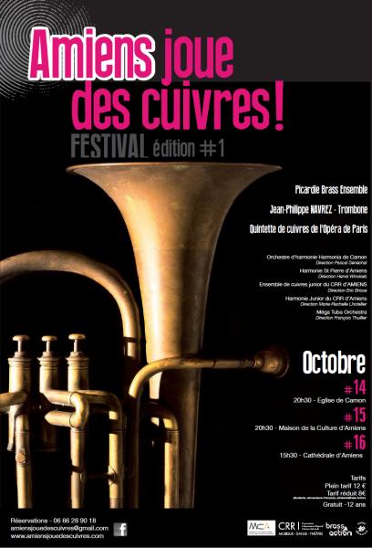 Affiche du Festival « Amiens joue des cuivres »